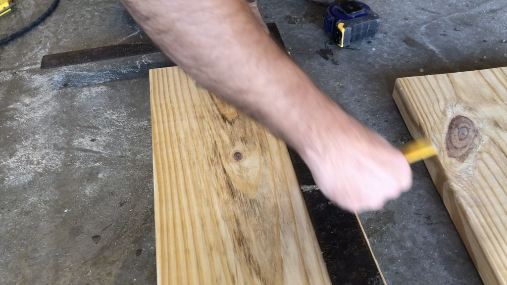 "Picture of Trim 1/4"" Off of One of the Long Sides on Both Boards"
