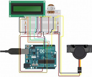 Measuring Water Flow Rate Using Arduino and Flow Sensor