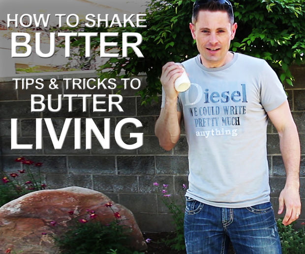 Picture of Healthier Living by Making Butter (Shaking Cream into Butter)