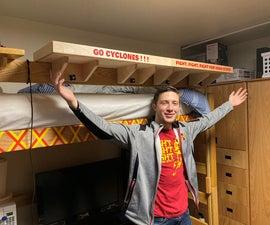 Clamping Dorm Room Shelves With School Spirit