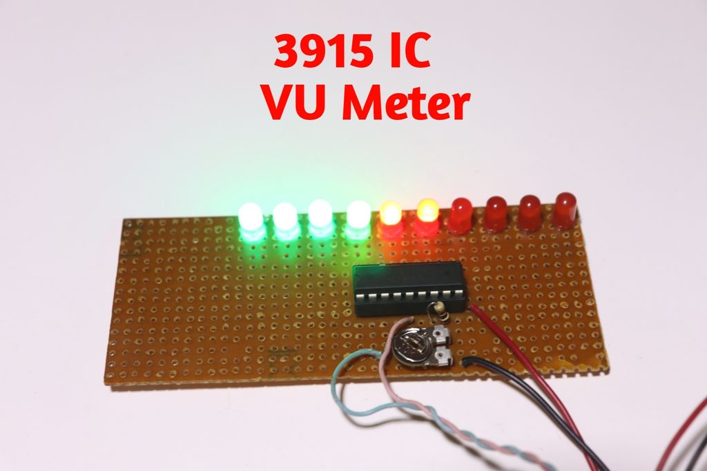 Picture of VU Meter Using 3915 IC