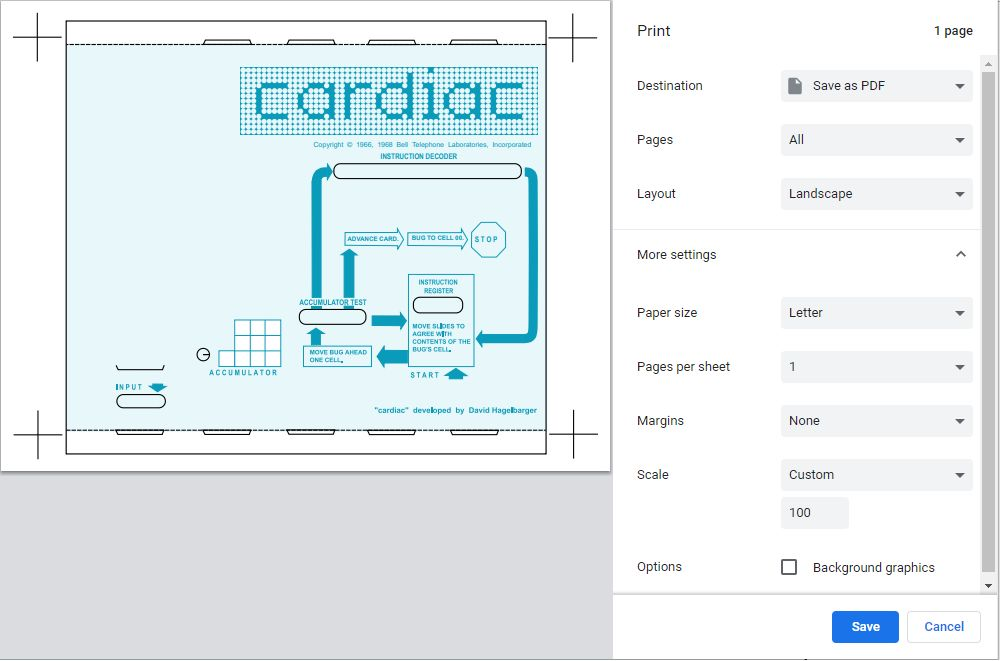 Picture of Print the CARDIAC Pages