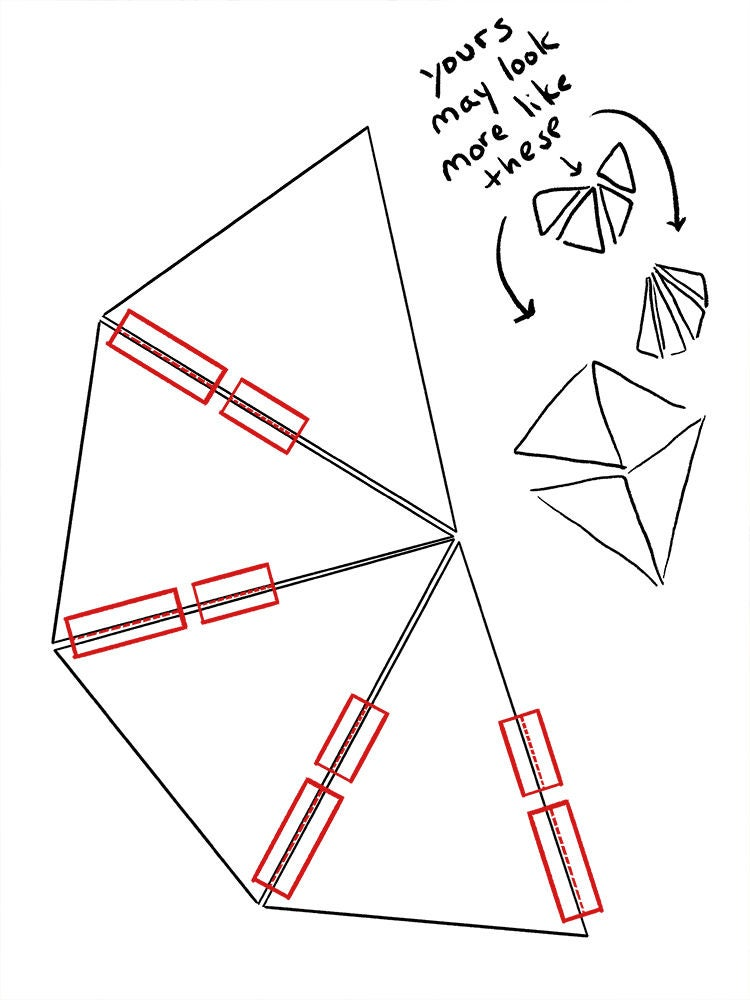Picture of Partially Assemble Pyramid (Add Braces and Mark Eyes)