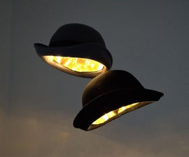 Floating Bowler Cap Pendant Lights
