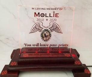 LED Pet Memorial Plaque