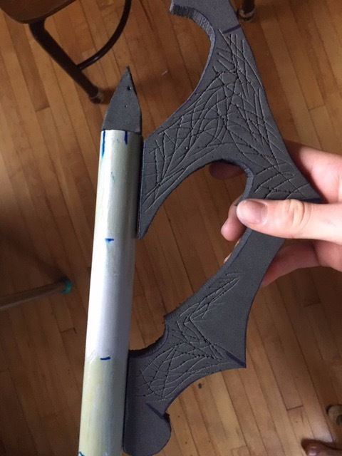 Picture of Glue Blades and Triangles Onto PVC