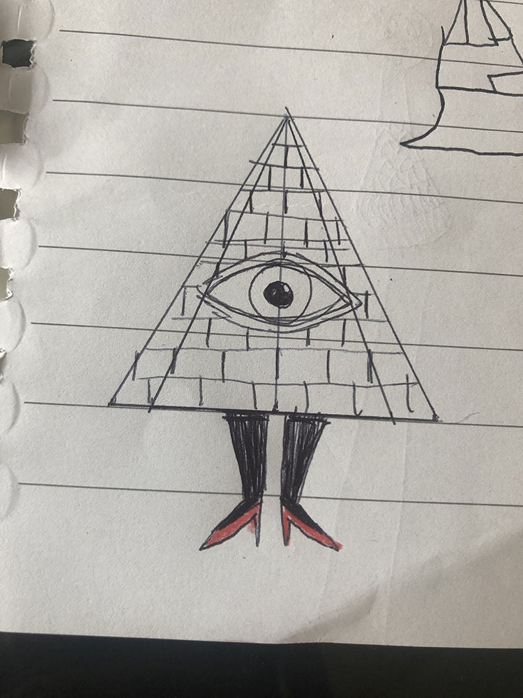 Picture of Sketch and Paint Pyramid Sides