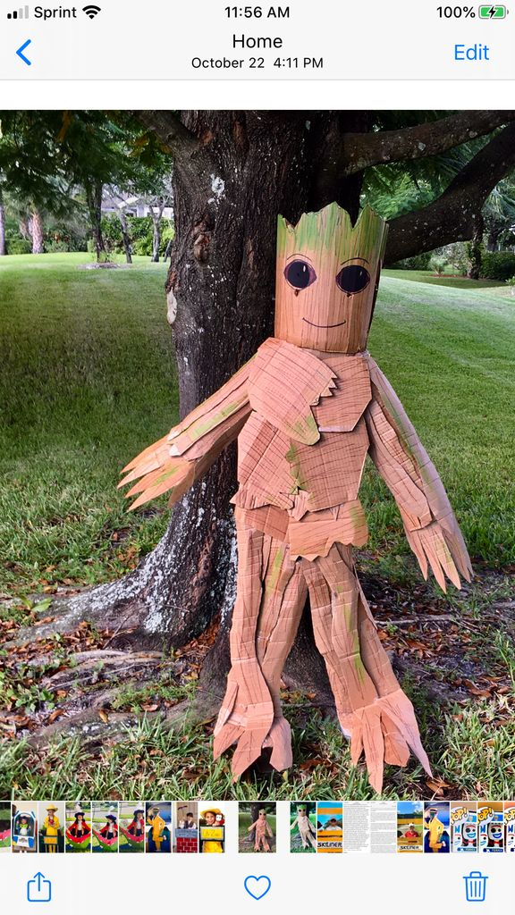 Picture of Child's Cardboard Groot