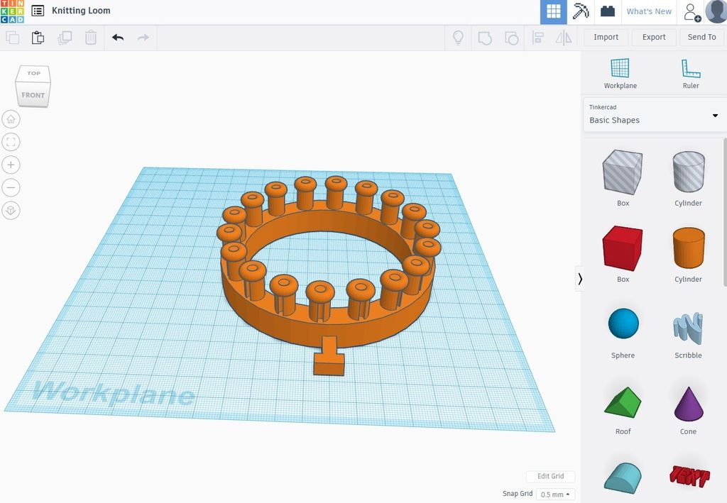 Picture of Designing the Loom in Tinkercad - Part 3