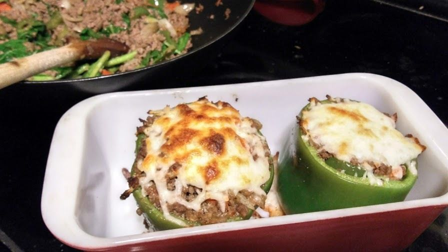 Picture of Stuffed Peppers + Eggs