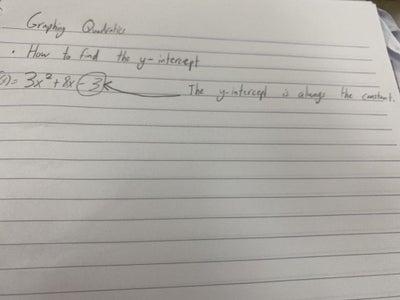 Graphing Quadratics and Vertex Form Summative