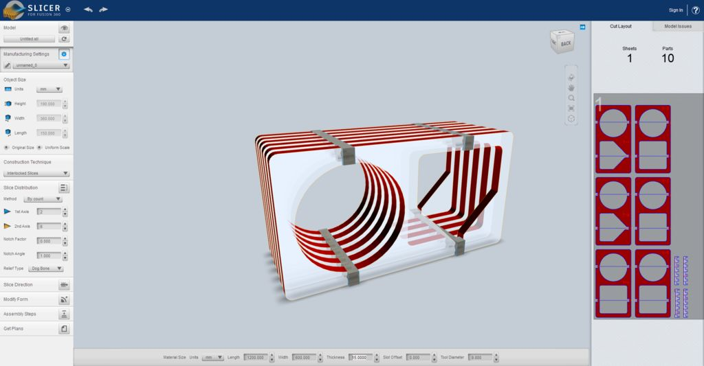 Picture of Slicer for Fusion 360: Importing the Model and Slicing It