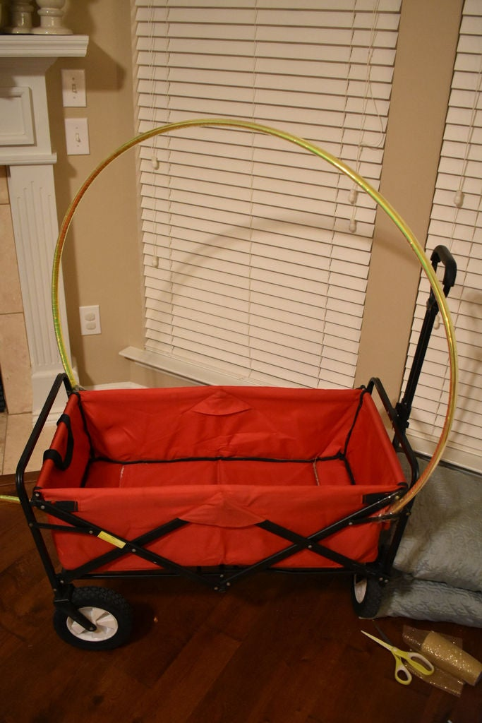Picture of Cut the Hula Hoops and Attach to the Wagon