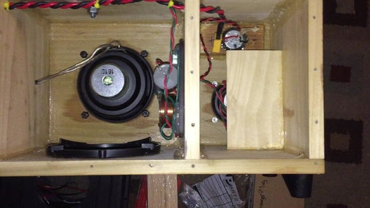 Finish Up the Wiring and Adding the Amp and Battery, Screwing on the Back Panel