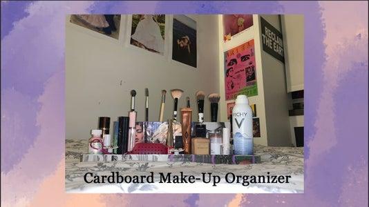 Cardboard Make-Up Organizer