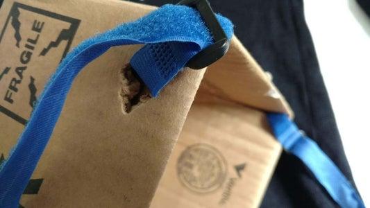 Affix Straps to Box
