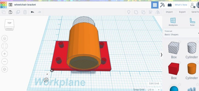Draw the Bracket With Tinkercad
