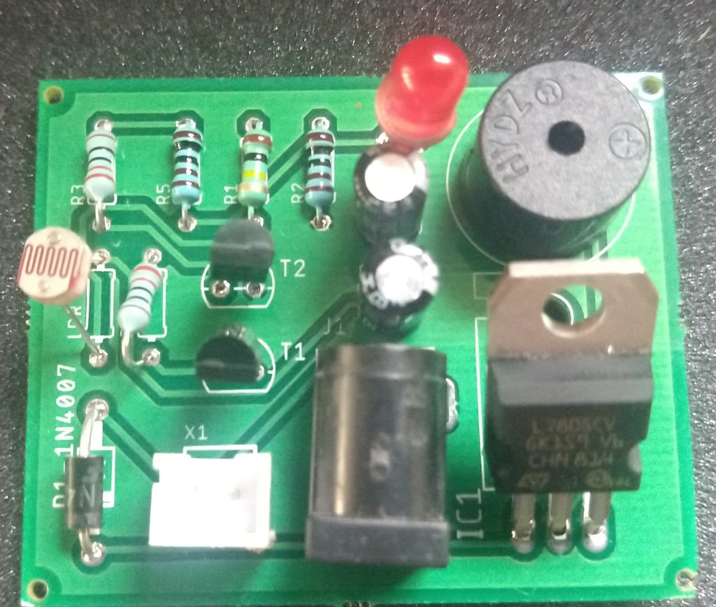 Picture of Components Assembled Board