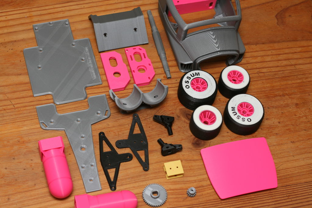 Picture of Parts to Print and Materials to Use
