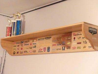 Bass Tournament Trophy Shelf
