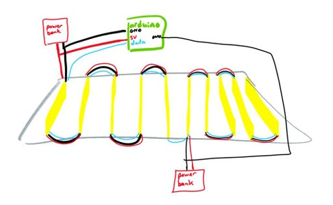 Electrical Layout of Underskirt
