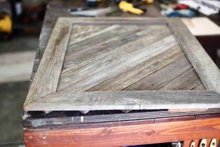 Attach Diagonal Boards to the Frame
