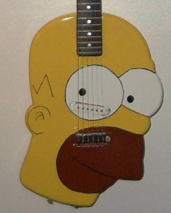 Picture of Homer Simpson Guitar