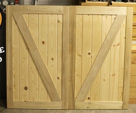How to Make a Barn Door - Double Sided