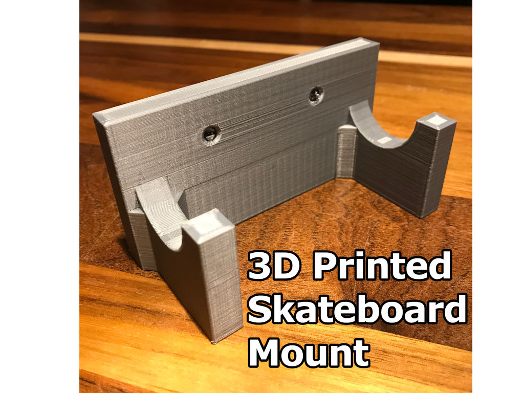 Picture of 3D Printed Skateboard Wall Mount: Cheap & Easy