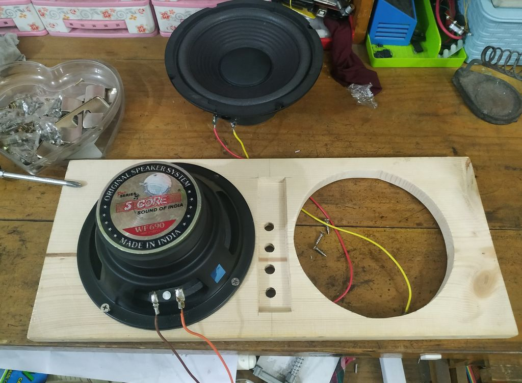Picture of Soldering Wires to the Speakers