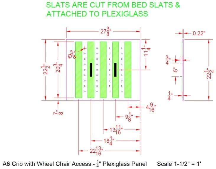 Picture of Add Slats and Handles to the Plexiglass Gate