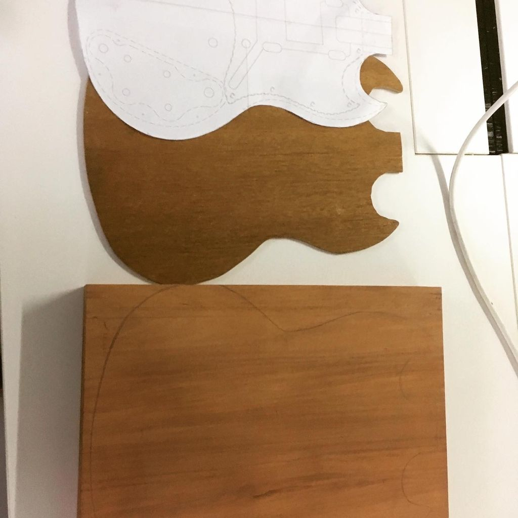 Picture of Gibson SG Style Guitar Build - Instructable Work in Progress
