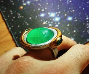Stargate Goa'uld Ring & Pendant With LED