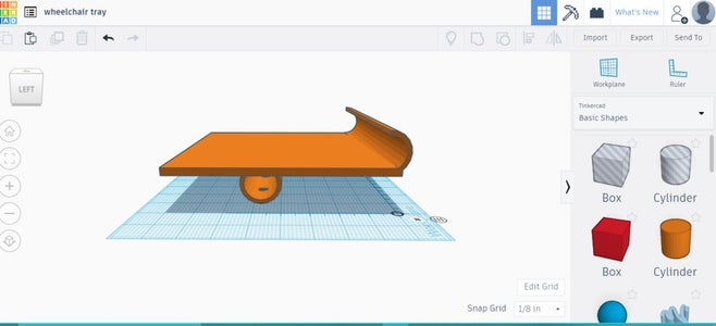 Draw the Tray in Tinkercad