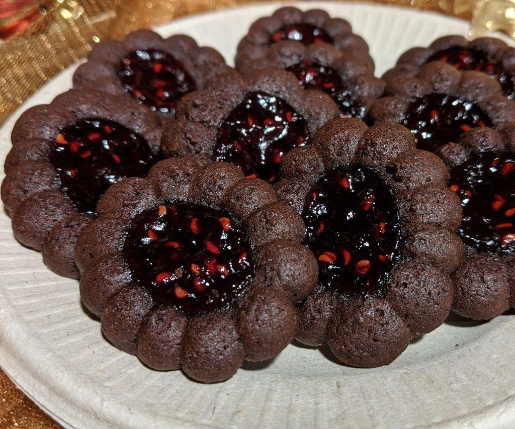 Dark Chocolate Raspberry Medallions