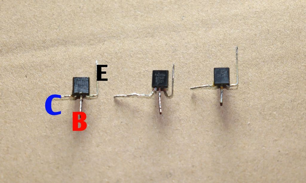 Picture of Fold Pins of Transistors Like This