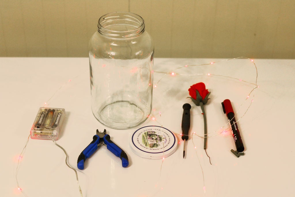 Picture of Beautiful Photography Prop on a Budget : Pickle Jar Lamp