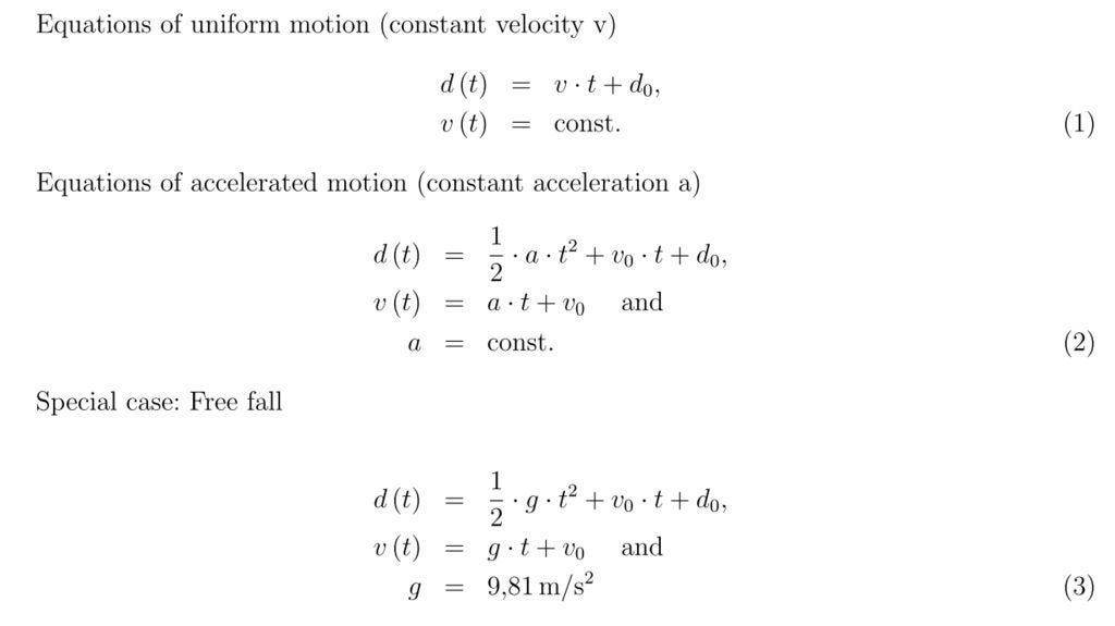 Picture of Teach the Equations of Motion