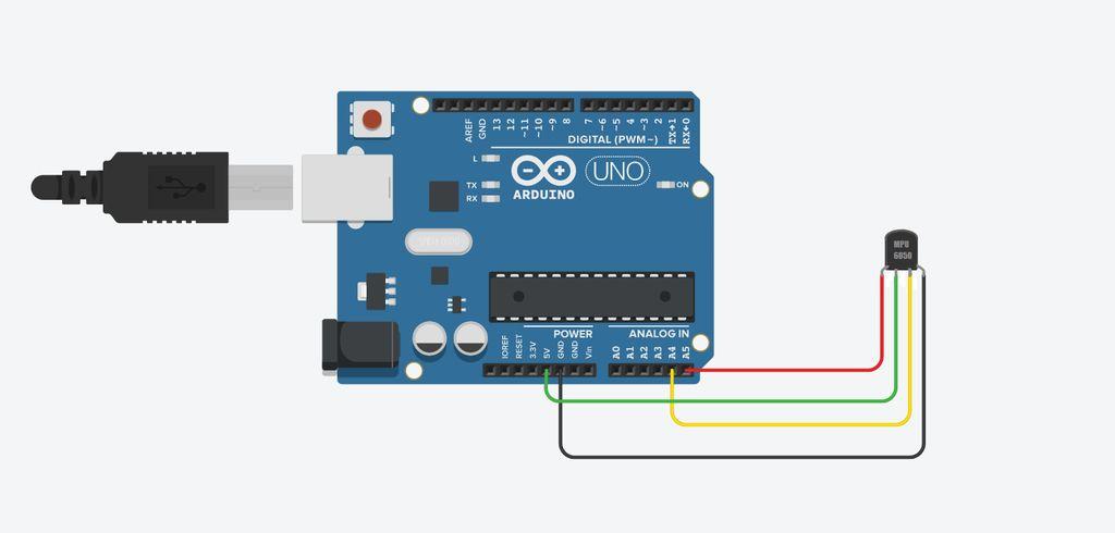 Picture of Conexões Placa De Arduíno - Sensor