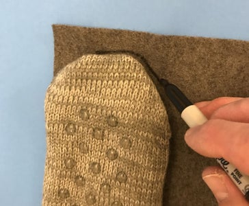 Trace Your Sock and Cut Out the Felt