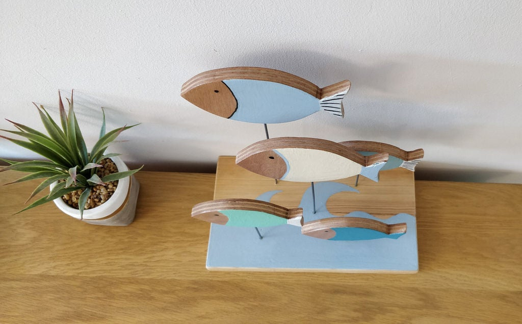 Picture of DIY Decorative Wooden Fish Stand