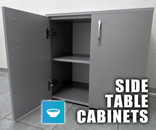 Melamine Side Table Cabinets - From SketchUp to Actual Furniture
