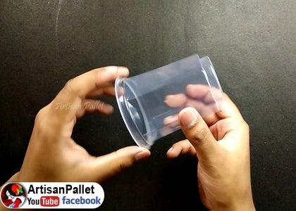 Take an Empty Plastic Glass
