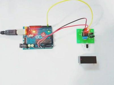 Testing the Obstacle Avoiding Sensor