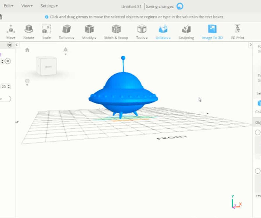 SelfCAD 3D UFO Tutorial
