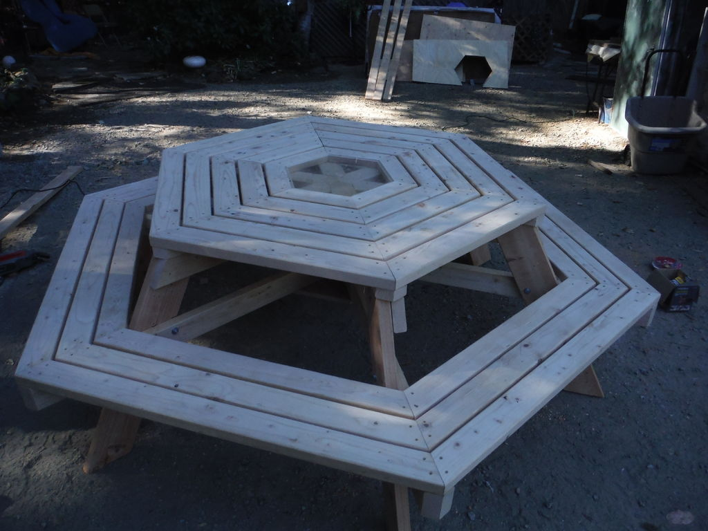 Picture of Cut Insets Into Tabletop Center (optional)