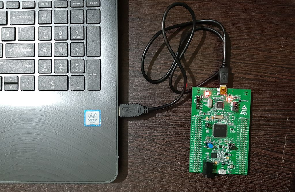 Picture of Connect Your STM32F407 Discovery Kit to Your PC/Laptop