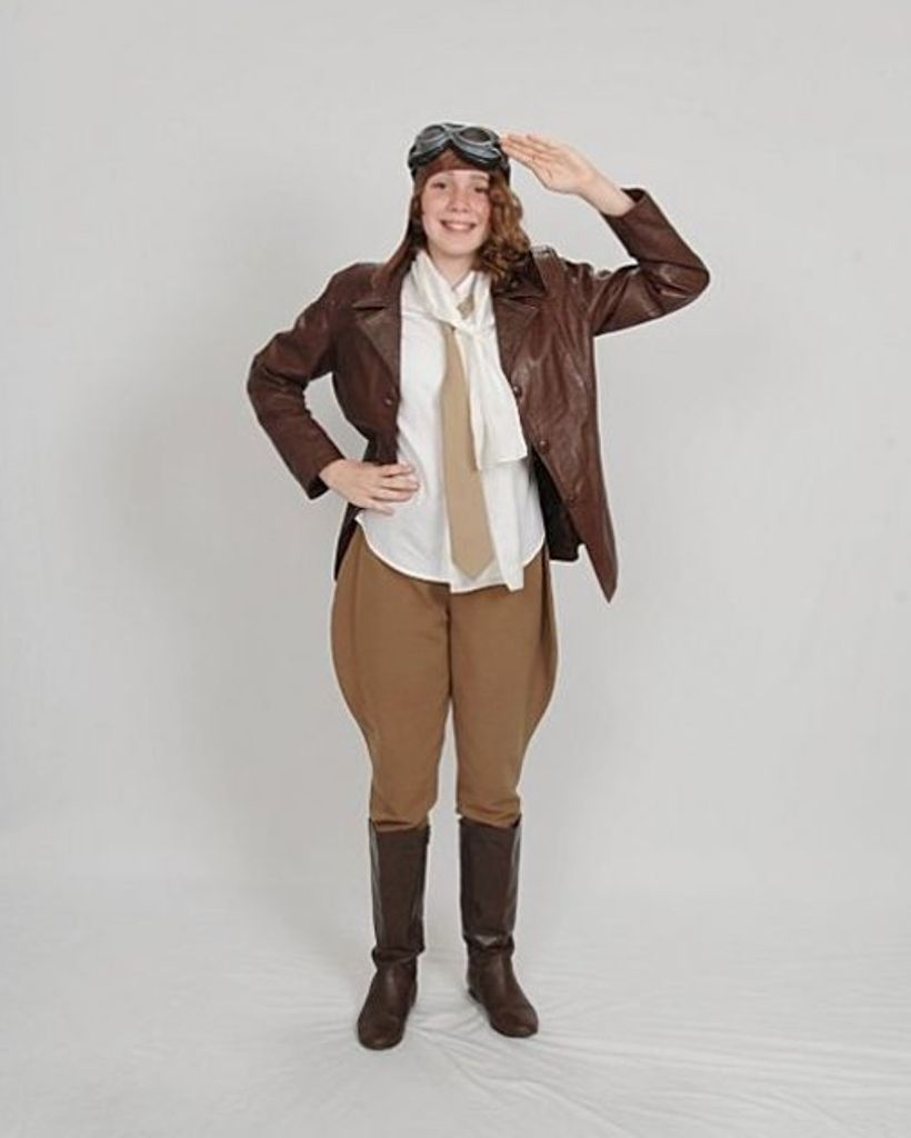 Picture of Amelia Earhart's Airplane Costume