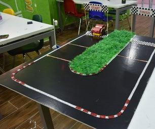 Smart Racing Track With (SAM Lab + Makey Makey + Scratch)