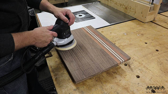 Picture of Sanding the Cutting Board